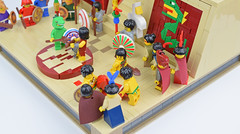 Removing the Vanquished (Cuahchic) Tags: lego aztecs temple sacrifice duel foitsop minifig mesoamerica priest