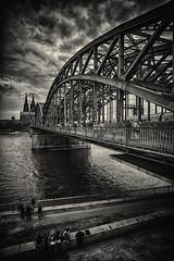 Cologne Hotspot (Revierfotograf) Tags: cologne rhein river feucht nass dreckig dom glocke brcke eisenbahn fluss dunkel regen wolken drama angst monsterstadt stahlbrcke rhine keule