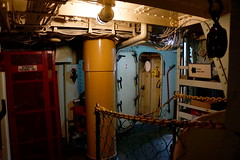 Lightship corridor, Boston MA (Boston Runner) Tags: lightship nantucket lv112 boston harbor massachusetts 1936 shipyard marina eastboston museum preserved interior corridor