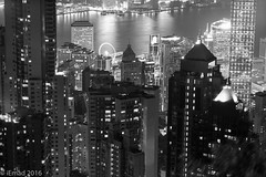 Standing Tall... (EHA73) Tags: aposummicronm1290asph leica leicamm typ246 hongkong nightphotography blackandwhite victoriaharbor victoriapeak towers buildings night lights skyscrapers cityscape travel bw