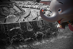 Dumbo Landing (wonderful_world_of_Hilary) Tags: world elephant flying orlando florida circus magic dumbo kingdom disney disneyworld waltdisneyworld walt storybook magickingdom selectivecolor disneys disneysmagickingdom dumbotheflyingelephant storybookcircus