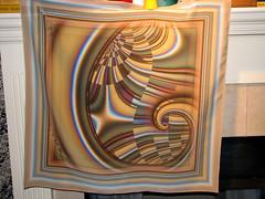 Tremor scarf  on silk (Joan McLemore) Tags: scarf silk joan fractal spoonflower