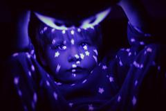 twilight (StefleiFotografie) Tags: light boy portrait reflection lamp monochrome stars kid child play purple violet flickrchallengegroup twilightturtle