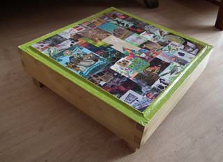 "upcycled corner table • <a style=""font-size:0.8em;"" href=""http://www.flickr.com/photos/92921384@N07/8448320028/"" target=""_blank"">View on Flickr</a>"