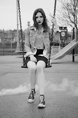 (jessica.sherriff) Tags: park urban white black sexy fashion hair outside photography shoot natural jessica smoke grunge style location trends denim bombs 90s classy sherriff
