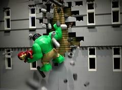 Hulk to the rescue (Legoagogo) Tags: lego unitedkingdom ironman hulk avengers chichester moc afol legoagogo