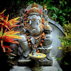 Ganesha - The Elephant God (PeterCH51) Tags: bali sculpture elephant statue indonesia square religious ganesha god religion culture squareformat ganesh elephantgod hindu ubud 5photosaday balineseculture mywinners earthasia peterch51 flickrtravelaward