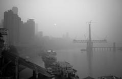 重庆 都市风景 (SinoLaZZeR) Tags: china blackandwhite bw blackwhite fuji cityscapes finepix fujifilm yangtze 中国 chongqing 风景 黑白 changjiang 重庆 长江 x100 都市