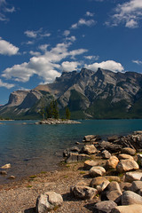 Minnewanka summer (JoLoLog) Tags: trees lake canada mountains island rocks alberta banffnationalpark lakeminnewanka lorien canadianrockies therockymountains canonxsi mygearandme mygearandmepremium mygearandmebronze mygearandmesilver mygearandmegold mygearandmeplatinum mygearandmediamond