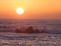 Sunset, Rock Beach, Bat Yam (dlisbona) Tags: sunset sea vacation mer holiday beach vacances soleil israel telaviv seaside sonnenuntergang  coucherdusoleil batyam