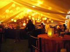 Paper Lanterns - Amber/Champagne Lighting - Tent Lighting