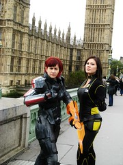 Miranda and Commander Shepard (IXISerenityIXI) Tags: london cosplay mass miranda effect commander shepard lawson