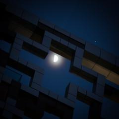 Moon, Jupiter in the Cube (timcornbill) Tags: longexposure moon night astro astrophotography jupiter lightpainters skypainters