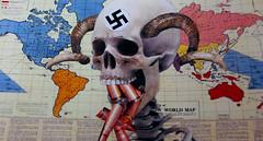 War (Van Pelt1) Tags: collage skeleton skull holocaust war christ jesus hell 666 nuclear battle holy satan end bible conflict hoof bomb mythology prophet scripture photocollage brimstone coldwar jesuschrist damnation hooves judgementday newtestament eschatology revalations fourhoorsemenoftheapocalypse