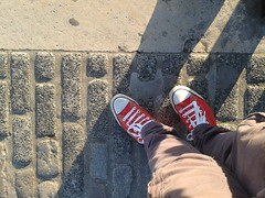 Roaming in the Red Chucks (That Sneaker Lover) Tags: sexy london feet beautiful out star amazing all converse about chucks smelly roaming
