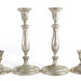 2069. Two Pairs of Sterling Silver Candlesticks