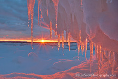 Pyramid Point ... icicle sunset II (Ken Scott) Tags: winter sunset usa snow ice michigan lakemichigan greatlakes february hdr freshwater voted leelanau pyramidpoint 2013 manitouislands panoramiccrop d5200 sbdnl sleepingbeardunenationallakeshore mostbeautifulplaceinamerica