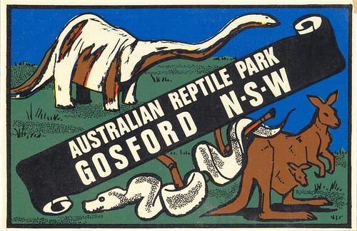Australian Reptile Park car transfer from the 1960s