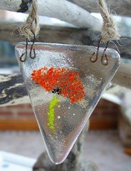 Poppy Bunting Sun Catcher (1) (Glittering Prize - Trudi) Tags: red glass poppy poppies bunting fused britcraft britishcrafters