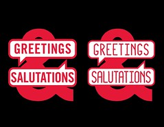 Greetings & Salutations logo (Sean Bucknam) Tags: holiday cards greeting wordmark