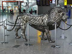 Airport Art - Lion (Anne Rogers LRPS) Tags: gallery heathrow lhr heathrowairport terminalfive michaelturner t5gallery