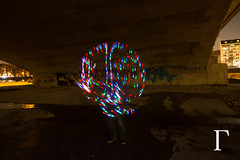 Flashing light () Tags: longexposure light lightpainting night germany dark munich deutschland led lumiere munchen effect nuit allemagne nocturne effet tempsdeposelong longtempsdepose  moisanne