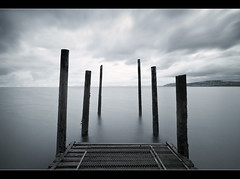 Six (A-D-Jones) Tags: ocean sea seascape water wales landscape grey pier long exposure cloudy jetty north llandudno dull on rhos