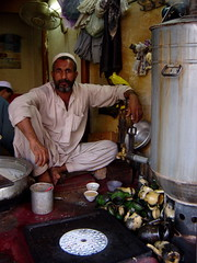 Tea Seller at Local Market in Peshawar, Pakistan (tyamashink) Tags: pakistan