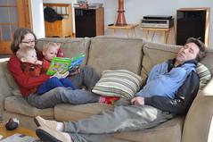 Reading and Sleeping (-sim-) Tags: simone sam patrick adrian wint
