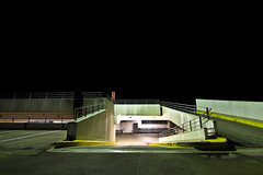 parking structure (nowhiteflag.) Tags: sky black night long exposure space parking illumination parkhaus tokina1116mmf28