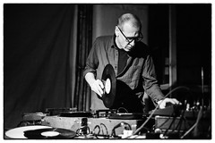 Fire! with Christian Marclay @ Cafe Oto, London, 13th March 2013 (fabiolug) Tags: leica blackandwhite bw music london monochrome fire drums blackwhite concert keyboard experimental bass live gig livemusic performance vinyl rangefinder turntable improvisation synth electronics turntables improv monochrom noise electronic sax improvised saxophone collaboration biancoenero dalston christianmarclay turntablism saxophones londonist freejazz fenderrhodes synthesize matsgustafsson leicam johanberthling andreaswerliin cafeoto silverefexpro silverefexpro2 mmonochrom leicammonochrom leicamonochrom