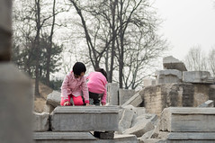 Kids playing in ruins the Gardens of Perfect Brightness (sirouni) Tags: china kids rollei ruins beijing  playingkids 5018hft nex5n thegardensofperfectbrightness