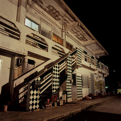 apartment (akira ASKR) Tags: longexposure night fuji hasselblad okinawa checkers  provia kin provia100f   rdpiii   kintown