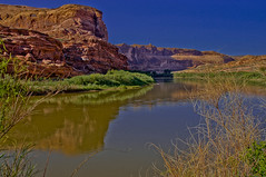 The Colorado River -- DSC02258--Highway 128, Utah (Lance & Cromwell back from a Road Trip) Tags: utah sony roadtrip coloradoriver scenicroute a55 highway128 sonyalpha highway128utah sal16105
