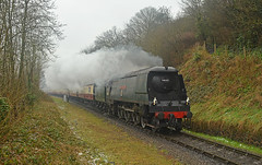 "Bulleid West Country Pacific 34007 ""Wadebridge"" - finally joins the Gala late friday afternoon (Pete Withers) Tags: west country railway severn valley svr severnvalleyrailway wadebridge bulleid 34007 westcountrypacific"