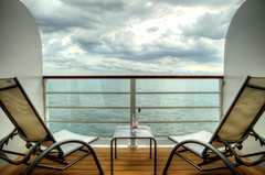 ocean cruise sea vacation clouds relax chair ship view... (Photo: NYRBlue94 on Flickr)