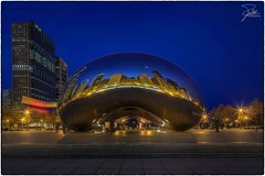 Blue Hour at the Bean (Frank Kehren) Tags: chicago reflection skyline night canon mirror illinois unitedstates milleniumpark 17 cloudgate thebean f11 canoneos5dmarkii tse17mmf4l canontse17mmf4l
