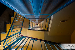 B.Y.R (HD Photographie) Tags: france architecture stairs nikon ardennes cage staircase hd escalier immeuble bulding herv hpital charlevillemzires 2013 d700 dapremont hervdapremont hervdapremont httpwwwassodarkroomfrblogauthorherve httpwwwhervedapremontfr