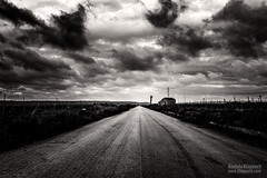 Further on Up the Road (Anatole Klapouch) Tags: road blackandwhite bw italy house storm abandoned clouds countryside vineyard italia wine country crop plantation grapes sicily sicilia