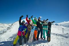 We (Ekaterina Sotova) Tags: winter sun snow mountains girl snowboarding happy march spring ride russia extreme freeride holydays biy madnes caucas 2013 dombay karachaycherkessia