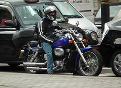 Honda Shadow (kenjonbro) Tags: 2003 uk blue 2002 shadow england westminster honda spirit trafalgarsquare chrome vtwin charingcross themall sw1 750 vt750dc2 749cc kenjonbro fujifilmfinepixhs10 rk53ebz