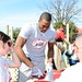 NBA Los Angeles Lakers star Dwight Howard at a KaBOOM! build in Houston