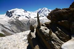Monte Rosa mit Steinmandli (Swiss_Ben) Tags: gornergrat zermatt