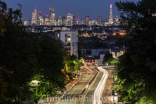 London's Skyline as seen from Hornsey Lane Bridge