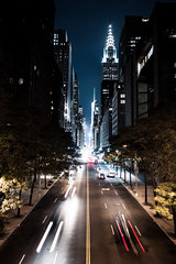 The City that Never Sleeps (TRI_ART_) Tags: new york city landscape night nighttime architecture longexposure car movement empire state building