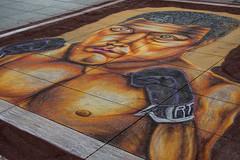 Met up with Mohamed Ali on street (sugob05) Tags: dresden streetart mohamed ali pragerstrase chalk kreide