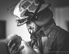 (Chains of Pace) Tags: blackandwhite portrait fireman oklahoma newborn