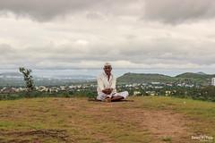 A Happy Villager (views@vista) Tags: clouds farmer hills india maharashtra monsoon pune rains sky hdr