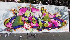 Ryck Wane (ryckwane) Tags: graffiti lettre lettres letters brussels bruxelles belgique belgium tag tags ric rik ryc ryk rick ryck riker rycke ricks rik1 wane ryckwane sms rfk ratsfinkkrew couleurs colors aerosol bombing fatcap fresque graff spray street graffitiart sprayart aerosolart mural wall painting mur muraliste peinture pice spraycan lettrage terrain writer writers