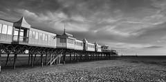 Lytham St Anne's Pier (Alan-Taylor) Tags: lytham st annes lythamstannes pier architecture blackandwhite bw canon 70d sigma1770 lancashire uk england outside seaside seascape coast